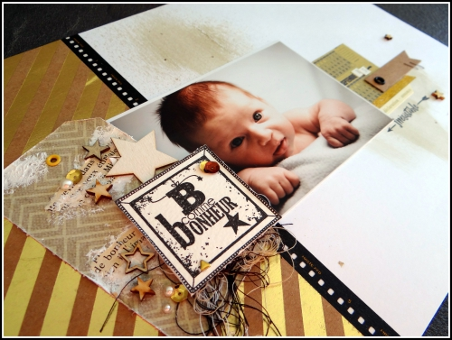 scrap, page, bébé, or, forum scrap ou café