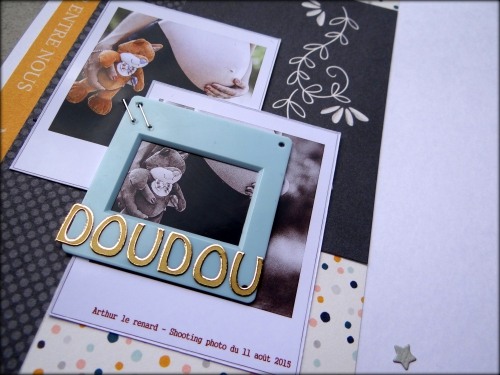 scrap, page, enfance, doudou, ct scrapbooking a4, dt scrapboo'kit la box creative