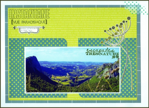 scrap, combo, bleu, vert, paysage, naissance