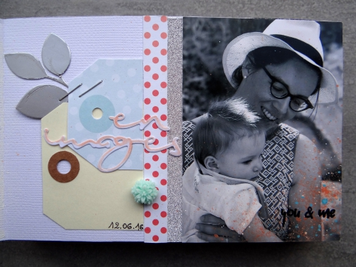 scrap, mini album, baptême, crop, Gaëlle LY