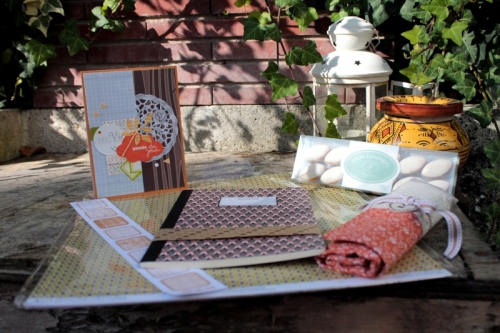 scrap, swap, automne, couture, carte