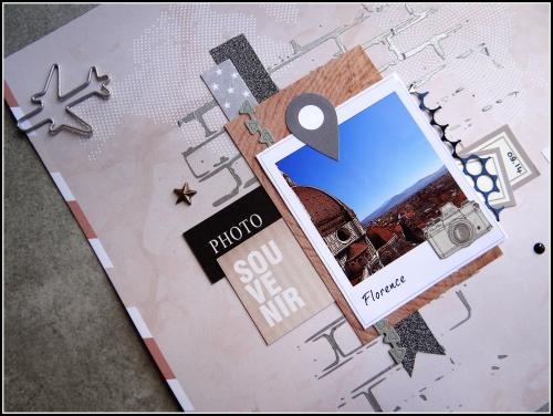 scrap, page, voyage, croisière diy&cie